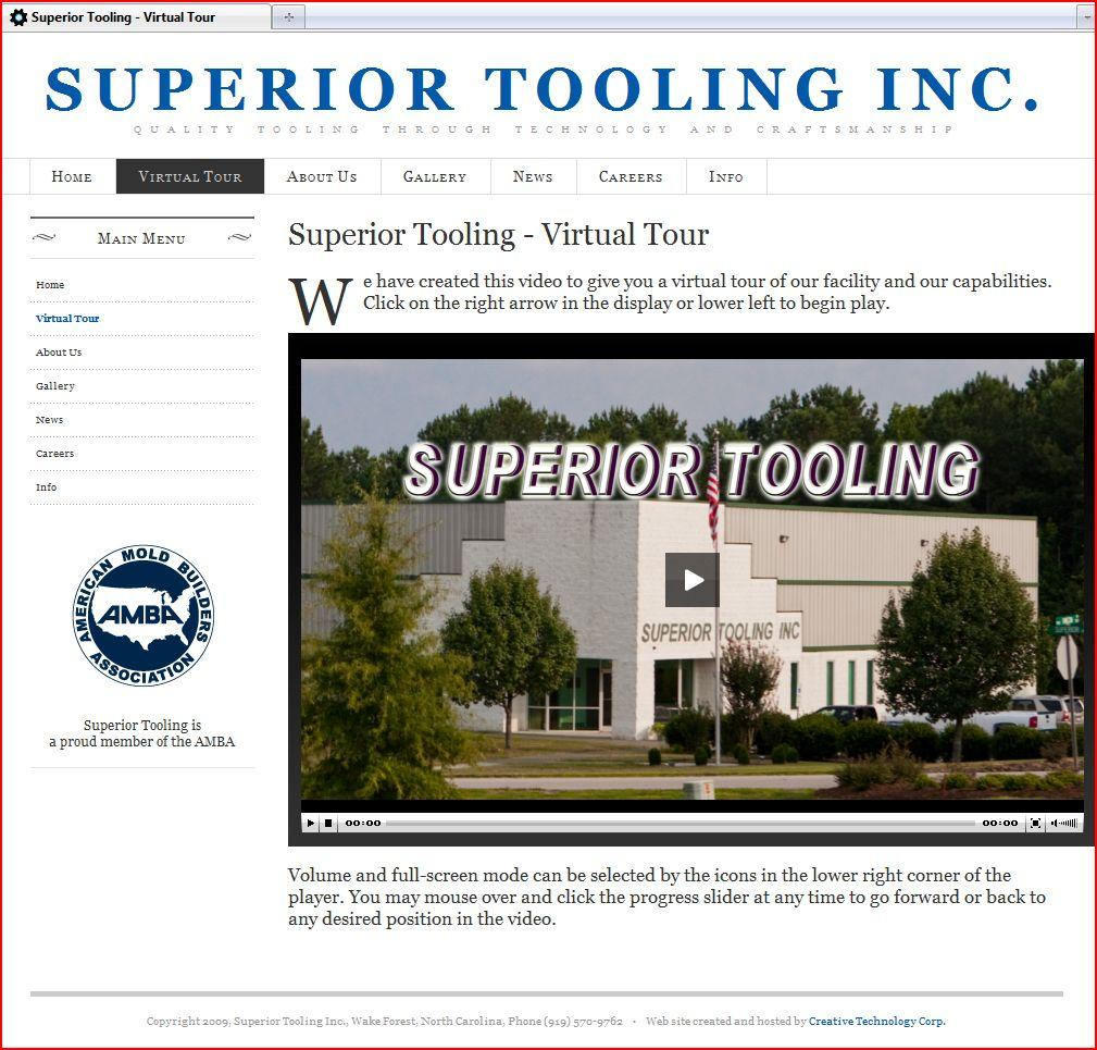 Superior Tooling web site